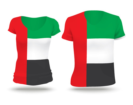 strip shirt: Flag shirt design of United Arab Emirates - vector illustration Illustration