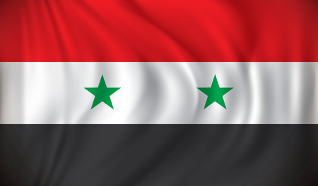 waving: Flag of Syria - vector illustration Illustration