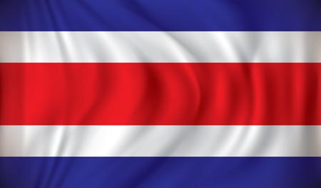 costa: Flag of Costa Rica - vector illustration