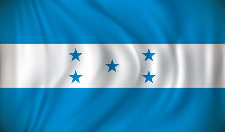 toltec: Flag of Honduras - vector illustration