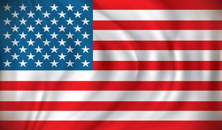 bandera blanca: Bandera de los Estados Unidos de Am�rica - ilustraci�n vectorial