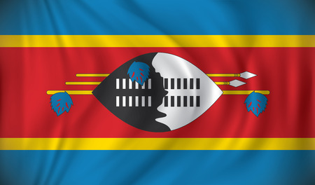 swaziland: Flag of Swaziland - vector illustration Illustration
