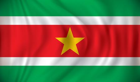 suriname: Vlag van Suriname - vector illustratie