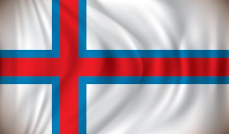 atlantic city: Flag of Faroe Islands - vector illustration