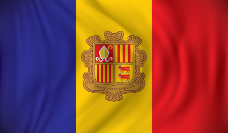 andorra: Flag of Andorra - vector illustration Illustration