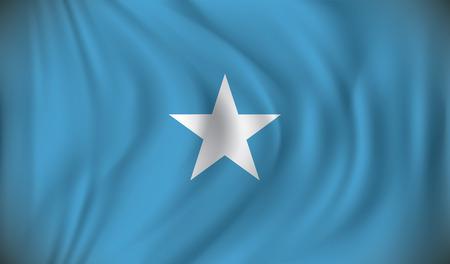 somalia: Flag of Somalia - vector illustration