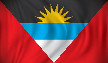 antigua: Flag of Antigua and Barbuda - vector illustration Illustration