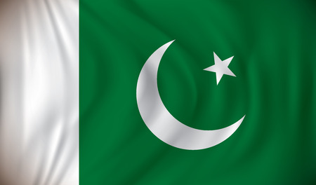 islamabad: Flag of Pakistan - vector illustration