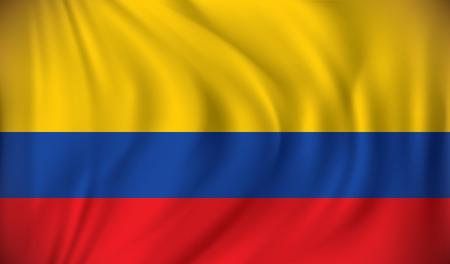 Flag of Colombia - vector illustration Illustration