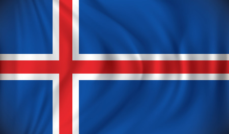 iceland: Flag of Iceland - vector illustration Illustration