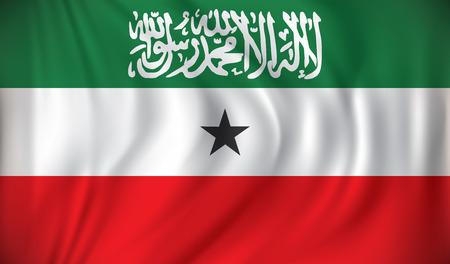 somaliland: Flag of Somaliland - vector illustration