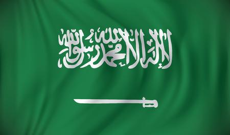 arabia: Flag of Saudi Arabia - vector illustration