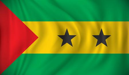 principe: Bandera de Santo Tomé y Príncipe - ilustración vectorial
