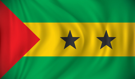 pentacle: Flag of Sao Tome and Principe - vector illustration