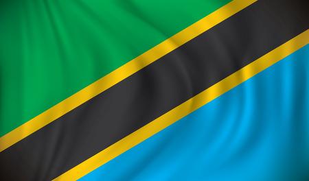 tanzania: Flag of Tanzania - vector illustration