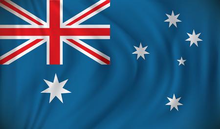 melbourne australia: Flag of Australia - vector illustration Illustration