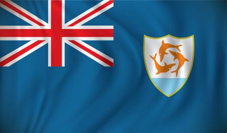 anguilla: Flag of Anguilla - vector illustration Illustration