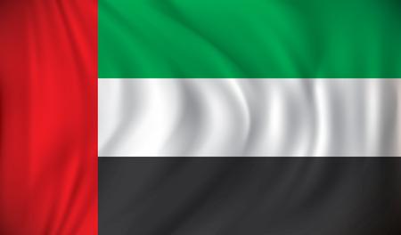 bandiera: Bandiera di Emirati Arabi Uniti - illustrazione vettoriale Vettoriali