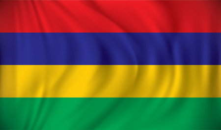 creole: Flag of Mauritius - vector illustration Illustration