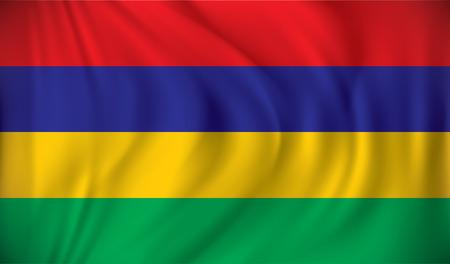 Flag of Mauritius - vector illustration Illustration