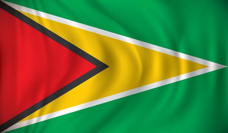 bandera blanca: Bandera de Guyana - ilustración vectorial