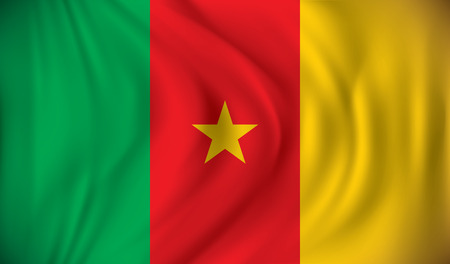 cameroon: Flag of Cameroon - vector illustration Illustration