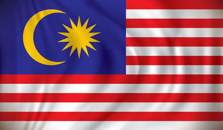 flag icons: Flag of Malaysia - vector illustration Illustration