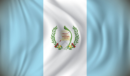 guatemala: Flag of Guatemala - vector illustration Illustration