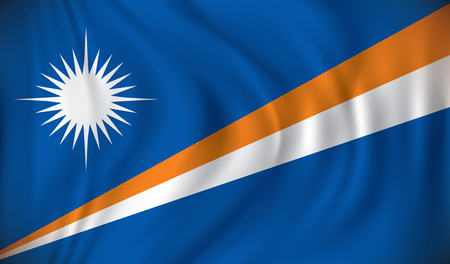 marshall: Flag of Marshall Islands - vector illustration Illustration