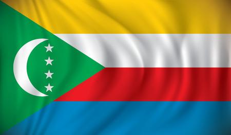 channel: Flag of Comoros - vector illustration