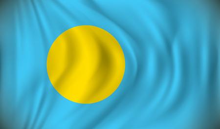 palau: Flag of Palau - vector illustration