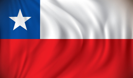 chile: Flag of Chile - vector illustration