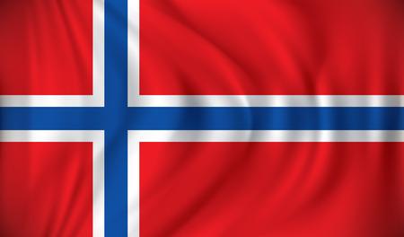 jan: Flag of Jan Mayen - vector illustration