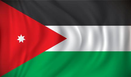 jordan: Flag of Jordan - vector illustration Illustration