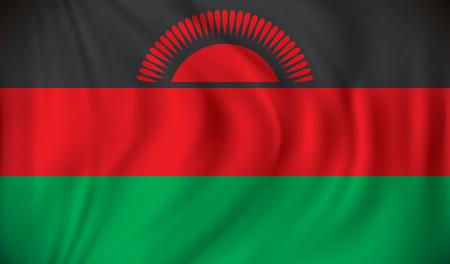 malawi: Flag of Malawi - vector illustration