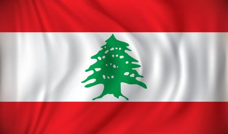 lebanon: Flag of Lebanon - vector illustration Illustration