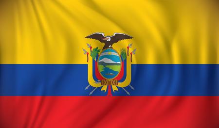 republic of ecuador: Flag of Ecuador - vector illustration