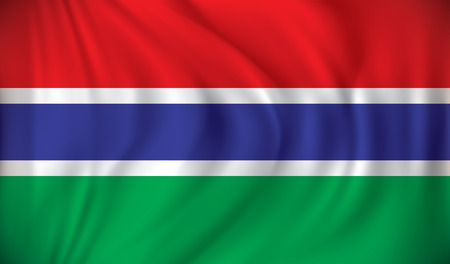 gambia: Flag of Gambia - vector illustration