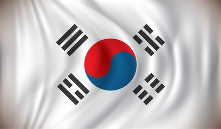 nacional: Bandera de Corea del Sur - ilustración vectorial