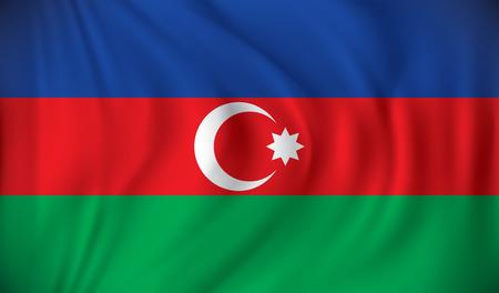 azerbaijan: Flag of Azerbaijan - vector illustration