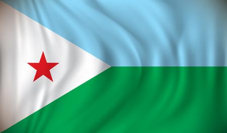 djibouti: Flag of Djibouti - vector illustration Illustration