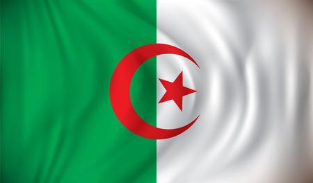 algeria: Flag of Algeria - vector illustration Illustration