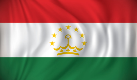 tajikistan: Flag of Tajikistan - vector illustration