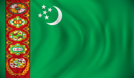 turkmenistan: Flag of Turkmenistan - vector illustration Illustration