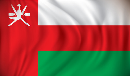 southwest asia: Flag of Oman - vector illustration Illustration