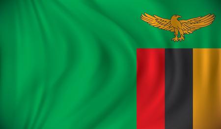 zambia: Flag of Zambia - vector illustration Illustration