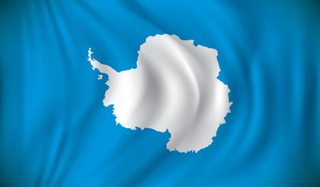 antarctica: Flag of Antarctica - vector illustration Illustration