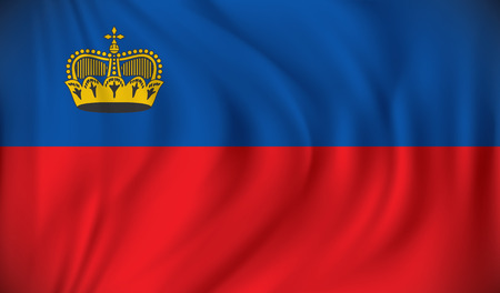 liechtenstein: Flag of Liechtenstein - vector illustration