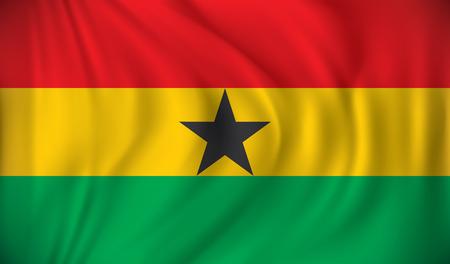 Ghana: Flag of Ghana - vector illustration Illustration