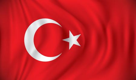 Drapeau de la Turquie - illustration vectorielle